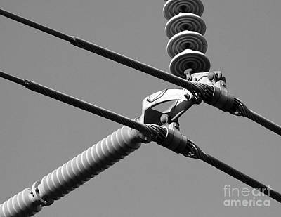 Art Print featuring the photograph High Power Lines - 1 by Kenny Glotfelty