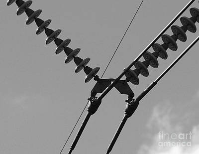 Art Print featuring the photograph High Power Lines - 3 by Kenny Glotfelty