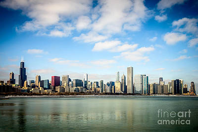 High Resolution Large Photo Of Chicago Skyline Art Print by Paul Velgos