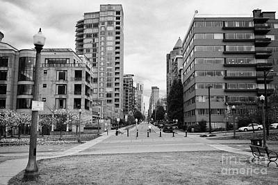 high rise apartment condo blocks in the west end alberni street coal harbour Vancouver BC Canada Art Print by Joe Fox
