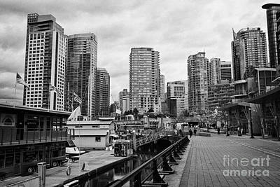 high rise apartment condo blocks in the west end coal harbour marina Vancouver BC Canada Art Print by Joe Fox