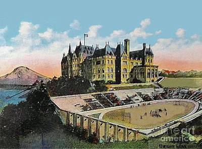 High School Football Stadium In Tacoma Wa 1911 Art Print by Dwight Goss