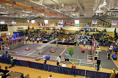 High School Robotics Competition Art Print by Jim West