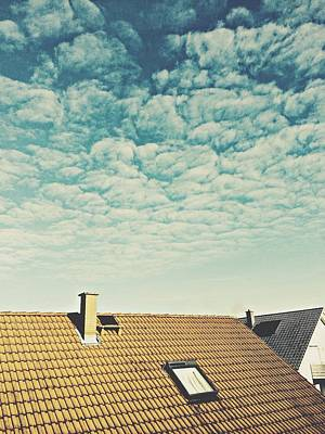 High Section Of Roof Tiles Art Print by Thomas M. Scheer / Eyeem