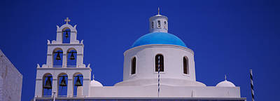 High Section View Of A Church, Oia Art Print by Panoramic Images