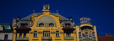 Prague Photograph - High Section View Of A Hotel, Grand by Panoramic Images
