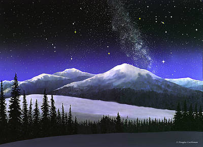 Constellations Painting - High Sierra Night by Douglas Castleman
