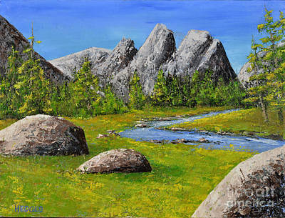 High Sierra Stream Art Print