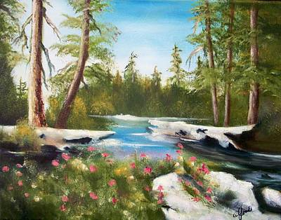 Painting - High Sierra Stream by Joni McPherson