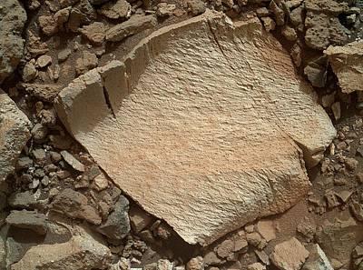 High-silica Rock On Mars Art Print by Nasa/jpl-caltech/msss