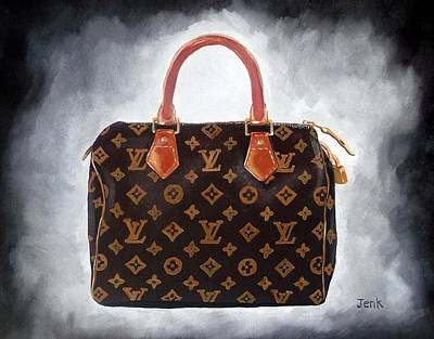 Handbag Painting - High Society by Rebecca Jenkins