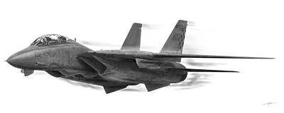 Fighter Jet Drawing - High Speed Pass by Dale Jackson