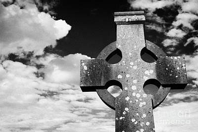 High Stone Celtic Cross Irish Ireland Art Print by Joe Fox