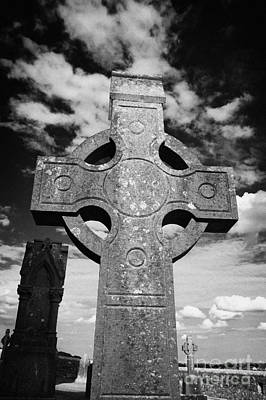 Photograph - high stone celtic cross Rock of Cashel tipperary ireland by Joe Fox