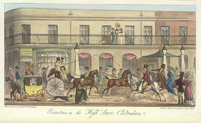 High Street Cheltenham Print by British Library