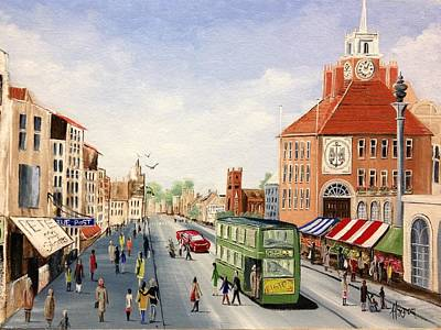 Art Print featuring the painting High Street by Helen Syron
