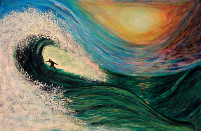 High Surf Art Print by Phoenix The Moody Artist