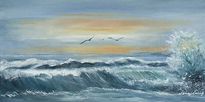 Painting - High Surf by Shirley Lawing
