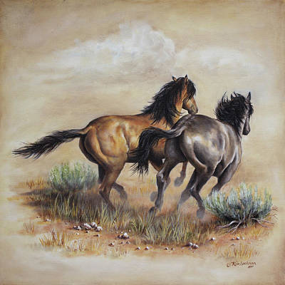 Painting - High Tailin' It by Kim Lockman