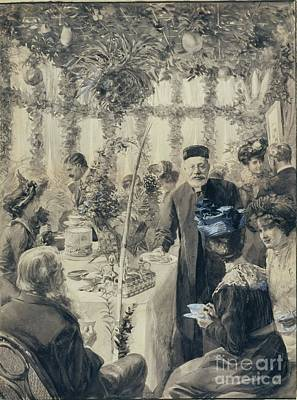 Judaic Painting - High Tea In The Sukkah by Solomon Joseph Solomon