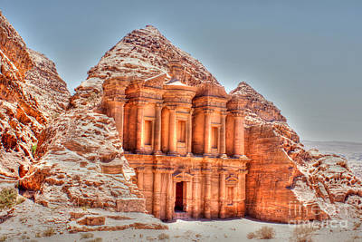 Photograph - High Temple At Petra by David Birchall