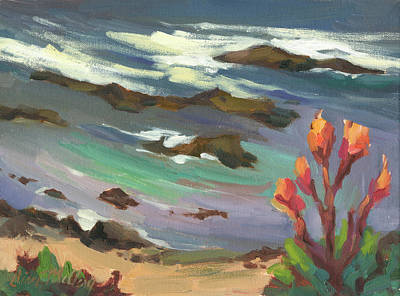 Caribbean Sea Painting - High Tide by Diane McClary