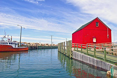 High Tide In Halls Harbour-ns Original by Ruth Hager