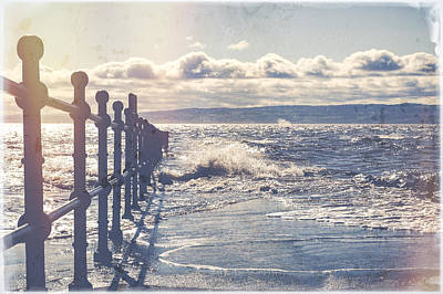 Choppy Digital Art - High Tide by Spikey Mouse Photography