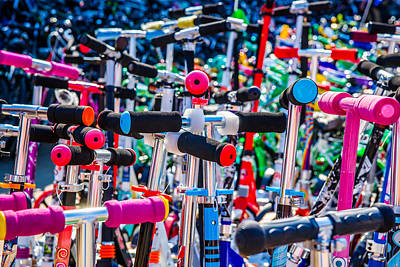 Toy Shop Photograph - High Time To Buy A Scooter 1 Horizontal by Alexander Senin