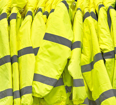 Zipper Photograph - High Visibility Jackets by Tom Gowanlock