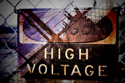 Photograph - High Voltage - Photomontage  by Ann Powell