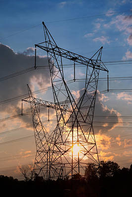 Photograph - High Voltage Tower by Melinda Fawver