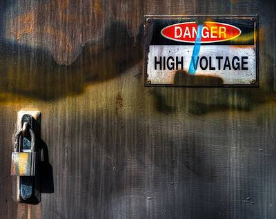 Photograph - High Voltage Rock N Roll by Wayne Sherriff