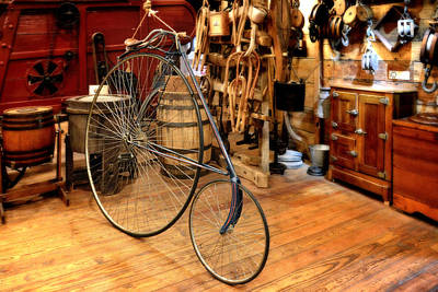 Exercise Photograph - High Wheel 'penny-farthing' Bike by Christine Till