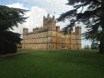 Highclere Castle Downton Abbey 2 Art Print