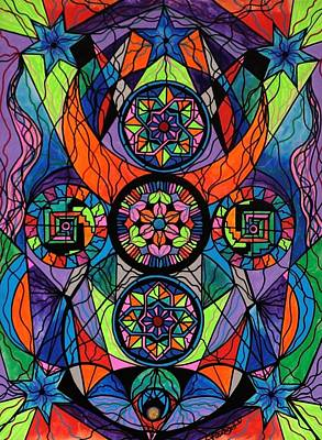 Sacred Geometry Painting - Higher Purpose by Teal Eye  Print Store