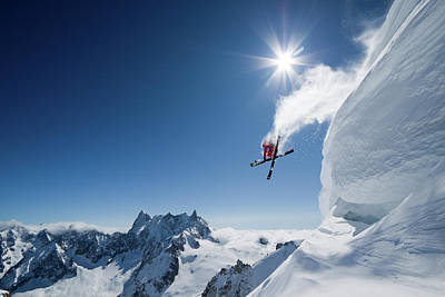 Ski Photograph - Higher by Tristan Shu