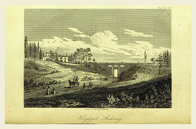 Parish Drawing - Highgate Archway, The History And Antiquities Of The Parish by Litz Collection