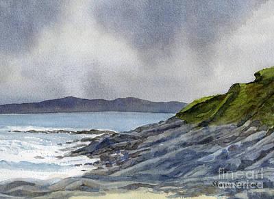 Scotland Painting - Highland Coast With Rocky Shore by Sharon Freeman