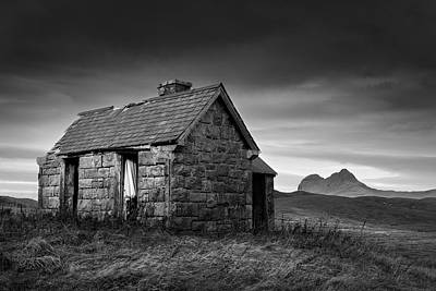 Abandoned Houses Photograph - Highland Cottage 1 by Dave Bowman