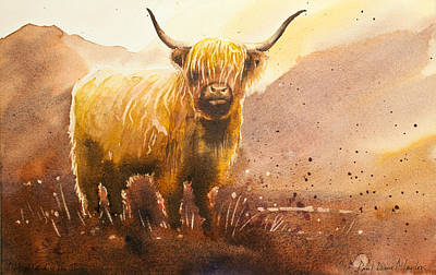 Scotland Painting - Highland Cow 2 by Paul Dene Marlor