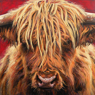 Highland Painting - Highland Cow by Leigh Banks