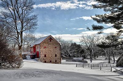 Barn Digital Art - Highland Farms In The Snow by Bill Cannon