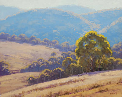 Highland Grazing Lithgow Art Print