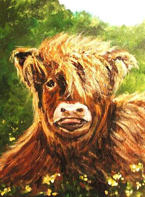 Cow Painting - Highland Hannah by Andrea Flint Lapins