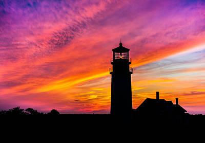 Dean Martin Photograph - Highland Light Silhouette  by Dean Martin