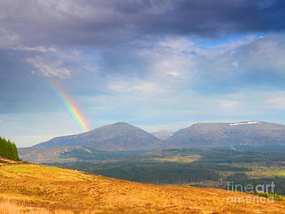 - Highland Mountain Rainbow After The Storm Scotland by Schwartz Nature Images