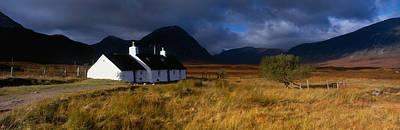Highlands Cottage, Glencoe, Scotland Art Print