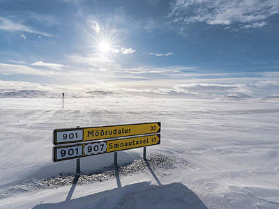 Traffic Signs Photograph - Highlands Of Iceland Close To The Ring by Martin Zwick