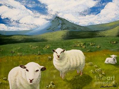 Highlands Sheep Art Print